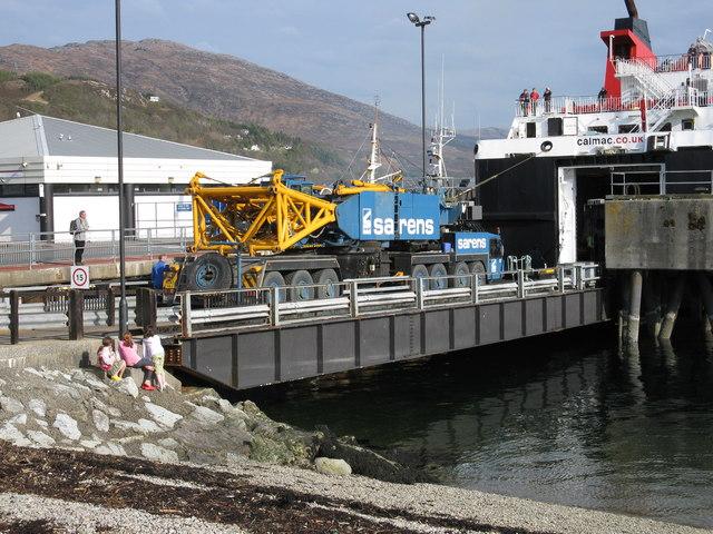 Sarens Heavy Crane, Ullapool