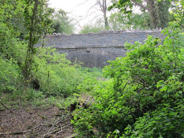 Former canal bridge near Vobster