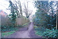 TQ2497 : Footpath on the edge of Hadley Green by Nigel Chadwick