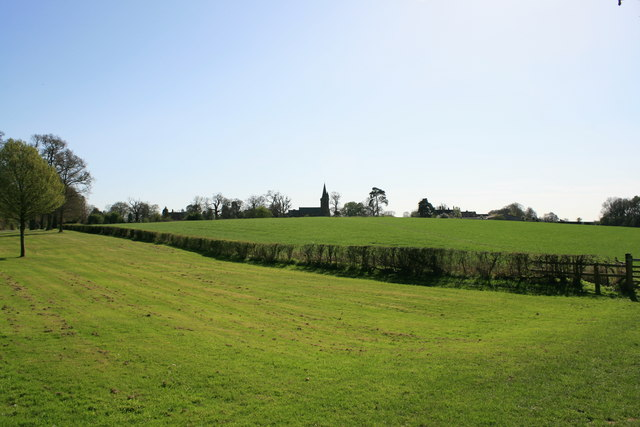 View towards Aldford