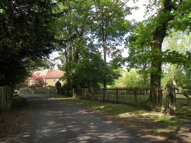 Part of Hall Road near the parish church