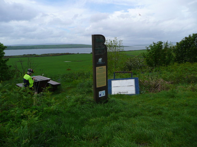 Picnic spot and viewpoint at Mecknoch