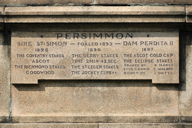 Persimmon statue - plaque