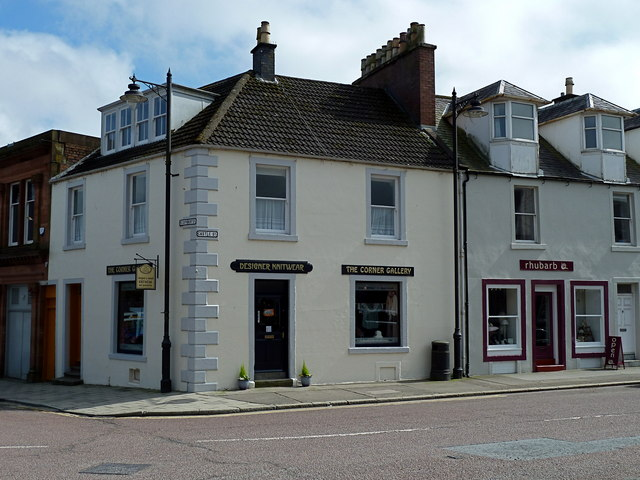 Corner of Castle Street and St Cuthbert Street, Kirkcudbrught
