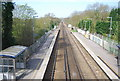 TQ3648 : Godstone Station, looking east along the line by Nigel Chadwick