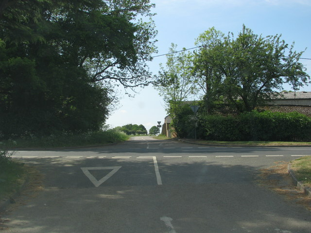 Crossroads near Hillesden