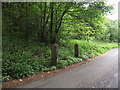 SD6811 : Redundant gateposts on Barrow Bridge Road by Philip Platt