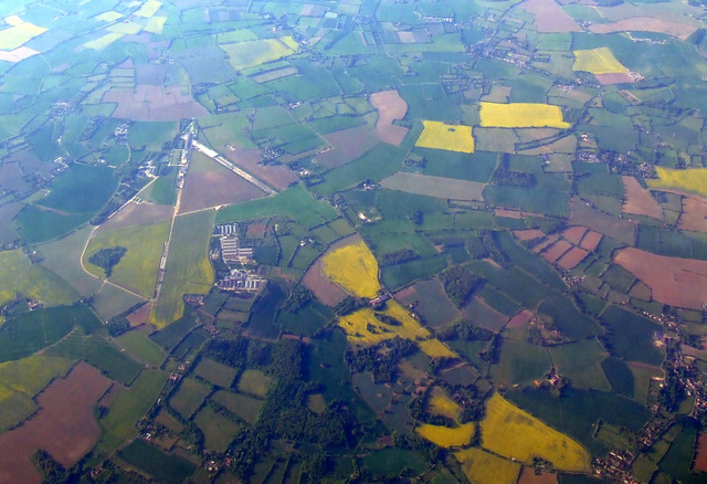 Former RAF Debach from the air