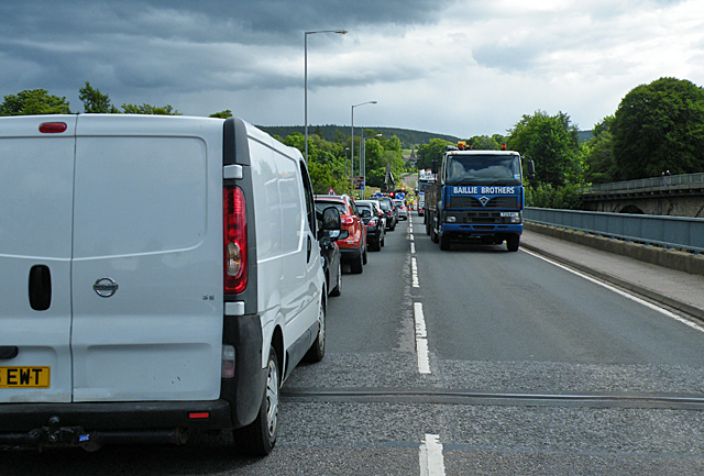 The Great Spey Bridge Traffic Jam