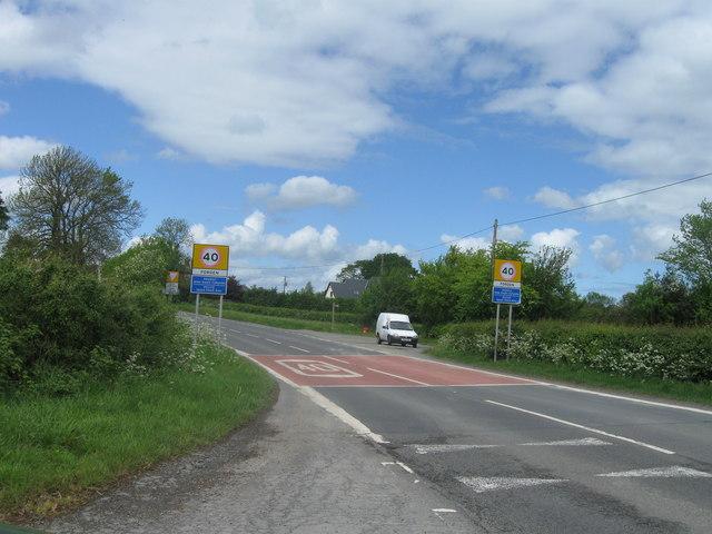 Forden entrance sign