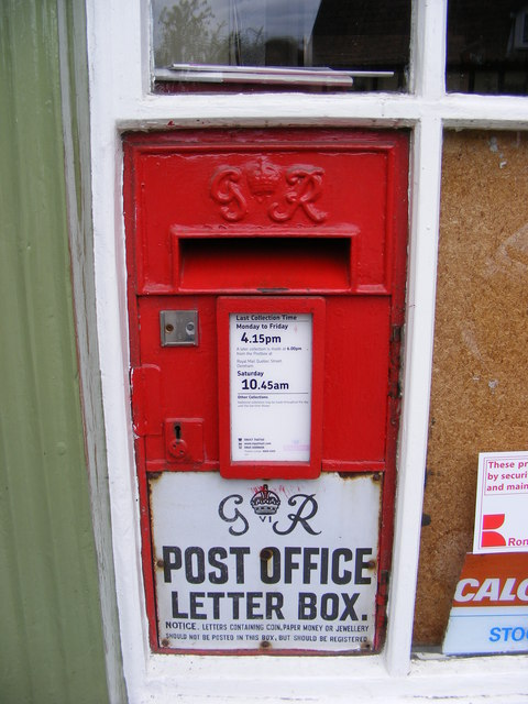 Post Office High Street George V  Postbox
