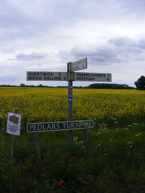 Roadsign on Pedlars Turnpike