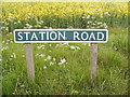 TG0526 : Station Road sign by Adrian Cable