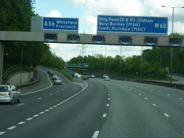 Junction 17, M60 clockwise