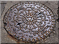 J5979 : PAM manhole cover, Donaghadee by Albert Bridge