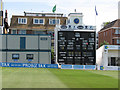 TQ2905 : The County Ground, Hove: the lunchtime score by John Sutton