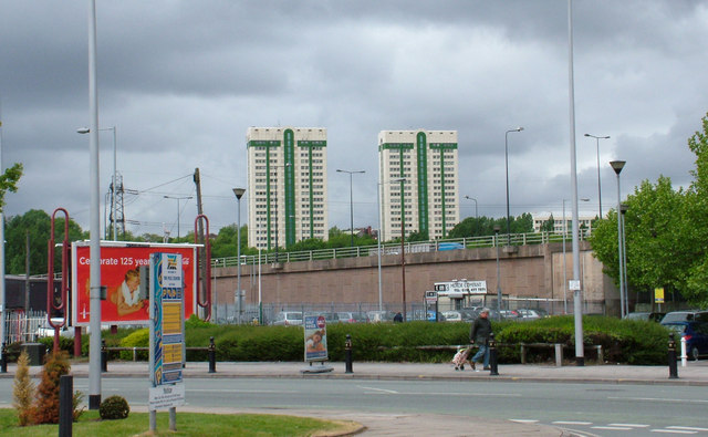 Hanover & Pendlebury Towers, Lancashire Hill