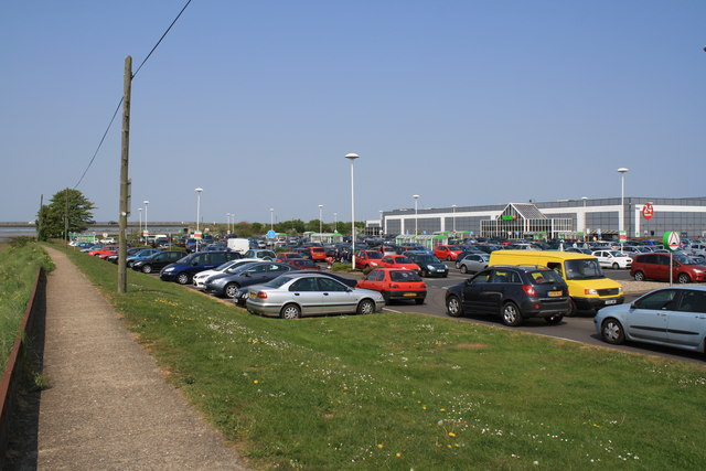 ASDA superstore and car park, Vauxhall, Great Yarmouth