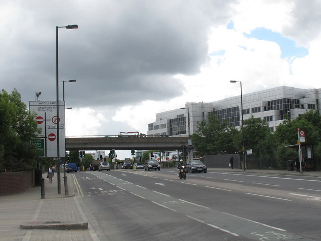 Westway crosses Wood Lane at White City
