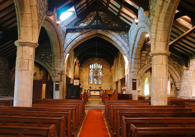 The Nave and Chancel at St Mary's Church