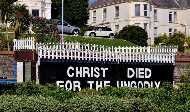 Religious message, Bangor