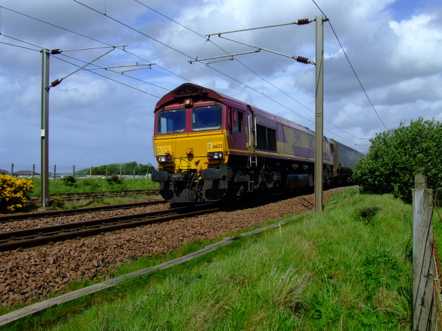 Coal train near Prestwick Airport