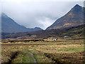 NN5276 : A view towards Ben Alder and Culra Bothy by John Lucas