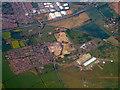 TL0746 : Cardington airship hangars from the air by Thomas Nugent