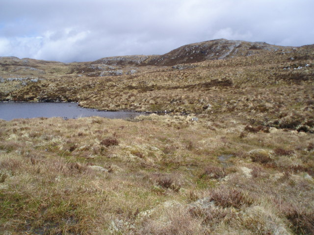 Outlet from Loch Liath near Carn na Fiacail