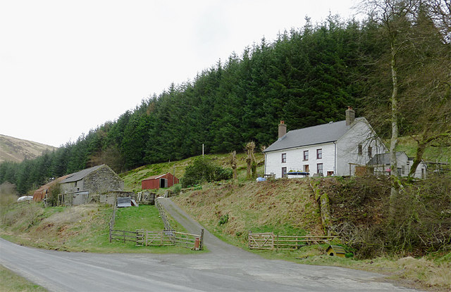 Farm buildings at Nantyrhwch, Powys