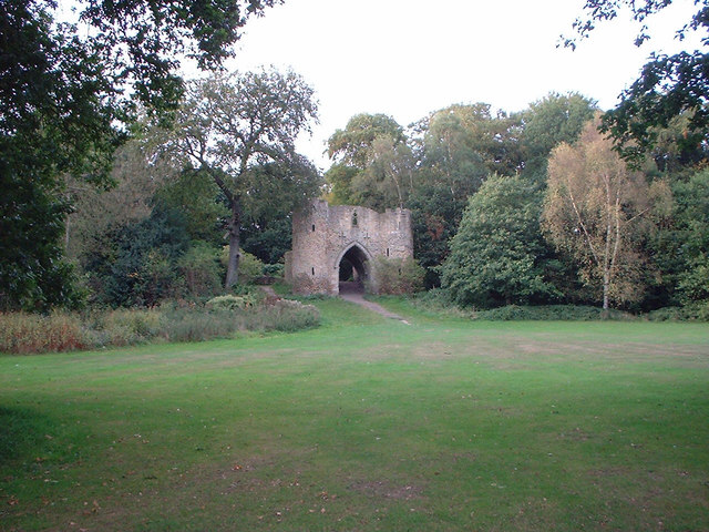 Ruined castle in Roundhay Park