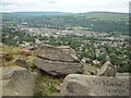 SE1247 : Ilkley from the Cow and Calf rocks by Leslie