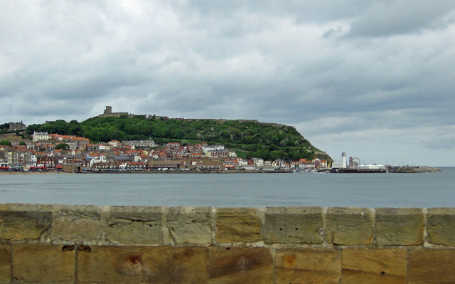 The castle on the cliff, Scarborough
