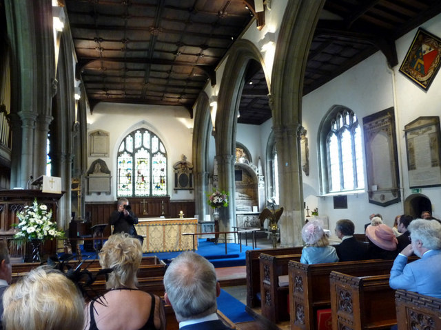 Interior of St Augustine's Church, Broxbourne, Hertfordshire