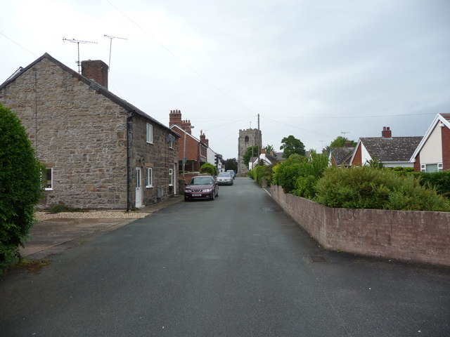 Lane towards the medieval church in Hope