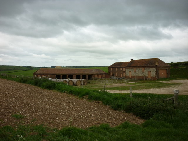 Farm buildings at Croome Wold