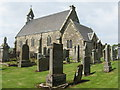 NR9621 : Kilmory Parish Church and graveyard by M J Richardson