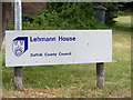 TM3055 : Lehmann House sign by Adrian Cable