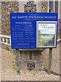 TM3055 : Notice Board of All Saints Church by Adrian Cable