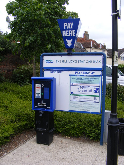 The Hill Long Stay Car Park Ticket Machine