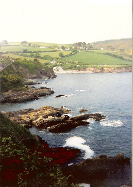 Talland Bay from coastal path to Polperro