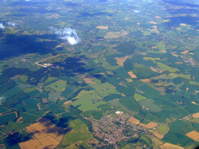 Coggleshall from the air