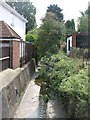 TQ4174 : The Quaggy River south of Eltham Road (A210), SE9 by Mike Quinn