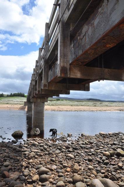 Footbridge over the Halladale near Melvich Bay