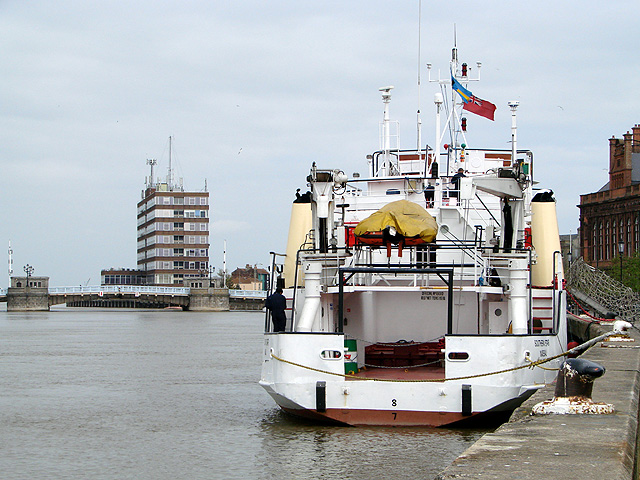 "The ""Southern Star"" berthed in the Yare"