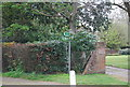 TQ8530 : HWLT sign, Rolvenden Layne by N Chadwick