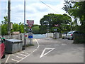 SX1254 : Level crossing on the mineral railway at Golant by Rod Allday