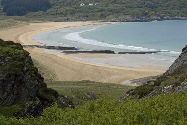 Kiloran bay from the Balnahard track