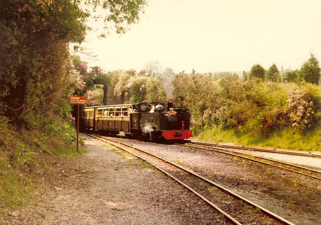 Vale of Rheidol train enters Devil's Bridge station
