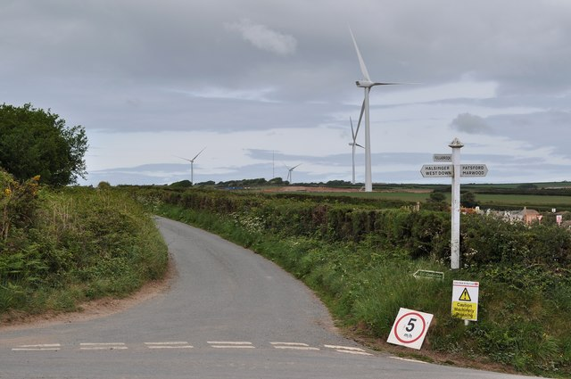 New turbines near Beara Down